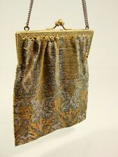 Antique Micro Beaded purse Brass Frame Made in France