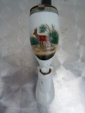 Pipe Allemande porcelaine décor cerf en forêt