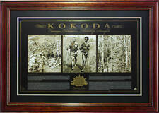 KOKODA TRAIL ANZACS AT WAR LIMITED EDITION FRAMED COA