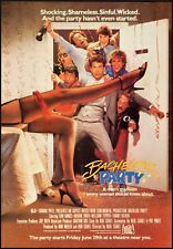 1982 Vintage movie ad for Bachelor Party with Tom Hanks  (113012)