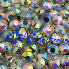 50pcs Crystal AB 7mm ss34 Flat Back Non-HotFix DMC Glass Crystals Rhinestones