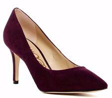 $120 NIB Sam Edelman Women's Tristan Pump Heel Suede WINE Size 8 M
