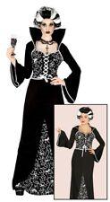 Womens Vampire Costume Ladies Vampiress Halloween Fancy Dress Outfit UK 14-16