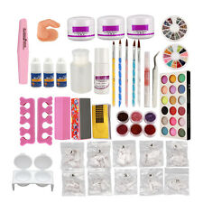 New Nail Suit Acrylic Liquid Multi Colors Powder False Nail Tips Set Nail Glue