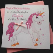 Handmade Personalised Birthday Card Magical Unicorn Daughter Granddaughter Niece