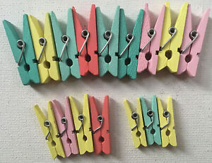 16 Various Size Craft Coloured Pegs For Art & Craft Projects.