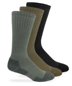 Jefferies Socks Mens Military Blister Guard Mohair Wool Boot Crew Socks 4 Pack