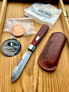 NORTHWOODS KNIVES HERITAGE JACK - RED SAWCUT BONE- GREAT EASTERN CUTLERY GEC