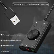 External USB Sound Card Mic Audio Card USB to 3.5mm Earphone Headphone