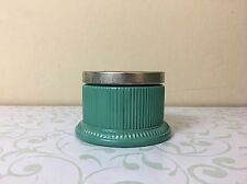 Avon Regence Hand Cream Jar Vintage Ribbed Green Empty with Patterned Lid