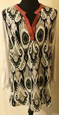 Cha Cha Vente Mixed Print Roll Tab Tunic Size XL