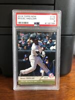 2018 Topps Now Miguel Andujar Yankees Rookie Card #115 PSA 9 Mint