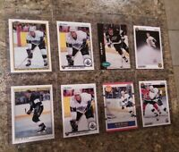 (8) Rob Blake 1990-91 OPC Premier Upper French Score Bowman Rookie Card lot RC