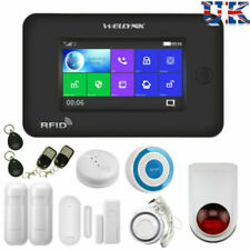 Wireless Full Touch LCD GSM WiFi Smart Home Burglar Security Fire Alarm System