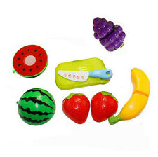 6PC Cutting Fruit Vegetable Pretend Play Children Kid Educational Toy