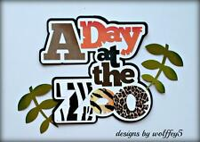 CRAFTECAFE ZOO ANIMAL TITLE paper piecing premade scrapbook page die WOLFFEY5