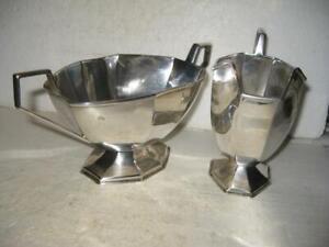 Antique Excellent Sterling Silver Sugar Bowl Creamer Elkington & Co. 1914 349 Gr