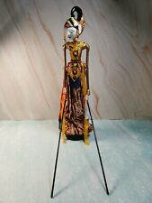 Vintage Indonesian Stick Puppet Doll, approx height 47 cm