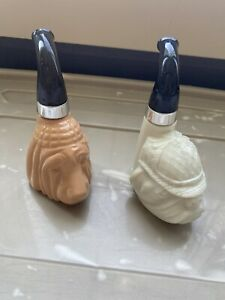 Avon Bulldog and Bloodhound After Shave Pipe Bottles