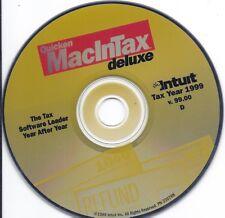 Intuit Quicken 1999 MacInTax DELUXE version -1999 Tax Return - Mac v.99 CD