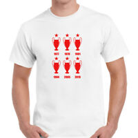 Liverpool 6 Times Winner Mens T-Shirt Top Tee Unisex Gift Fans Supporters