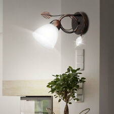 LED Wandlampe Gästezimmer Leuchte Alabasterglas Nachtlicht Strahler rostfarbig