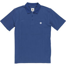 2017 NWT MENS ELEMENT FREDDIE POLO SHIRT $45 M midnight blue slim fit classic