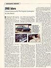 1968 Lamborghini Islero Original Car Review Print Article J575
