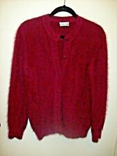 Pierre Cardin tricots Cardigan Size L Burgundy Red Gorgeous Cashmere