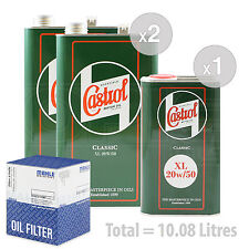 Engine Oil and Filter Service Kit 9 LITRES Castrol Classic XL 20W-50 9L