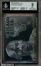 1996-97 Metal Platinum Portraits #5 Michael Jordan Bulls HOF BGS 9 MINT w/ 9.5