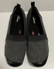 Ros Hommerson Carol Loafers Black Grey Houndstooth Size 8M