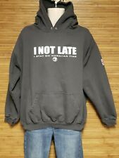Town & Country Surf Gray I Not Late I Stay On Hawaiian Time Hoodie Mens Size XL