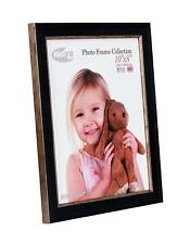 """2 pack Inov8 British Made Traditional Picture/Photo Frame, 10x8"""", washed Black"""