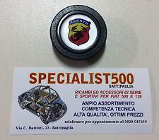 FIAT 500 F/L/R 126 PULSANTE CLACSON VOLANTE AUTO SPORTIVO LOGO ABARTH
