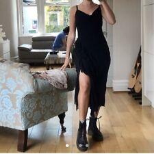 Etam Vintage Black Cowl Neck Dress Size 8