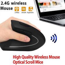 6D 2.4G Wireless Ergonomic Vertical Mouse Left Hand Optical 1600DPI GamingGMV
