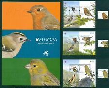PORTUGAL 2019 EUROPA / NATIONAL BIRDS 3 STAMPS+3 BLOCKS+1 BROCHURE MNH