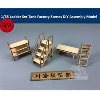 1/35 Ladder Set Tank Factory Garage Repair Shop Scenes DIY Wooden Assembly Model