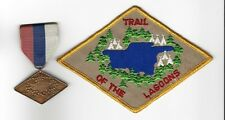 BOY SCOUT   TRAIL OF THE LAGOONS MEDAL & PP LOT          ILL