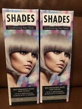 Shades Of London Shades Pastel Toner, Silver Lining, Conditioner Hair Toner X2