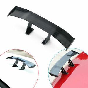 17cm Black Carbon Fiber Car Auto Tiny Mini Rear Tail Spoiler Wing Decoration X1