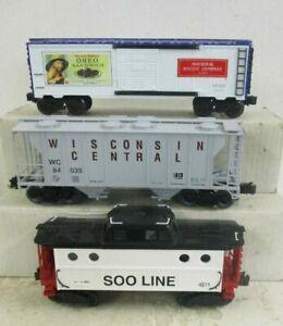 O SCALE WILLIAMS 4811, WEAVER 80035 & K-LINE 64102 ROLLING STOCK LOT