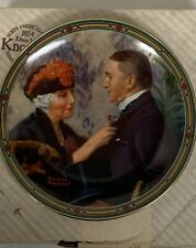 Norman Rockwell Love's Reward Plate With Coa