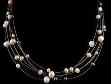 Collar Perlas Cultivadas Naturales. Plata 1ª Ley .925 Nuevo.