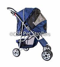 PET STROLLER - DOG CAT Pusher Pram - NAVY BLUE