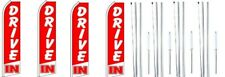 Drive In Swooper Flag With Complete Hybrid Pole set- 4 pack