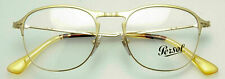 PERSOL PO7007V 1069 Matte Gold/ Gold RX EYEGLASS FRAME  51mm *AUTHENTIC* Italy
