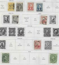 9 Mexico Stamps from Quality Old Antique Album 1856-1884