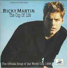 RICKY MARTIN - THE CUP OF LIFE 1998 UK CARD SLEEVE CD SINGLE 3 LIONS W/ POSTER